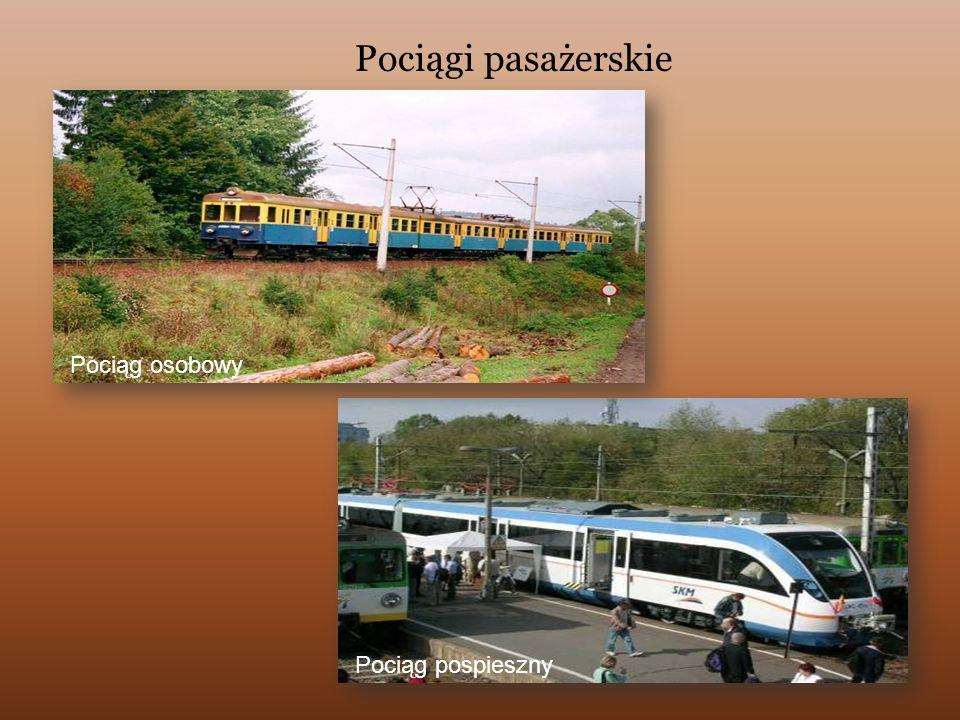 Pociągi pasażerskie Pociąg osobowy Pociąg pospieszny