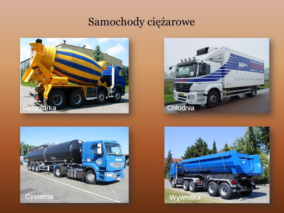 Samochody ciężarowe Betoniarka Chłodnia Cysterna Wywrotka