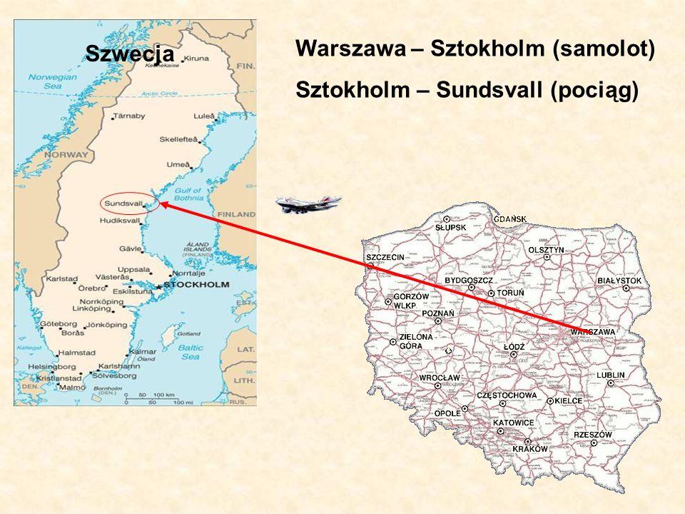 Warszawa – Sztokholm (samolot)