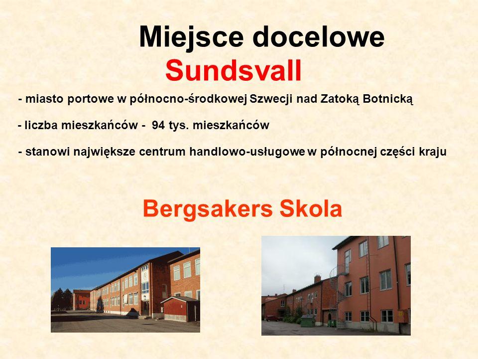 Miejsce docelowe Sundsvall Bergsakers Skola