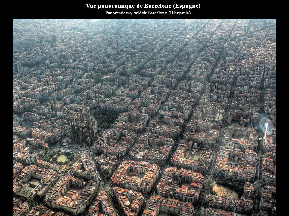 Vue panoramique de Barcelone (Espagne)