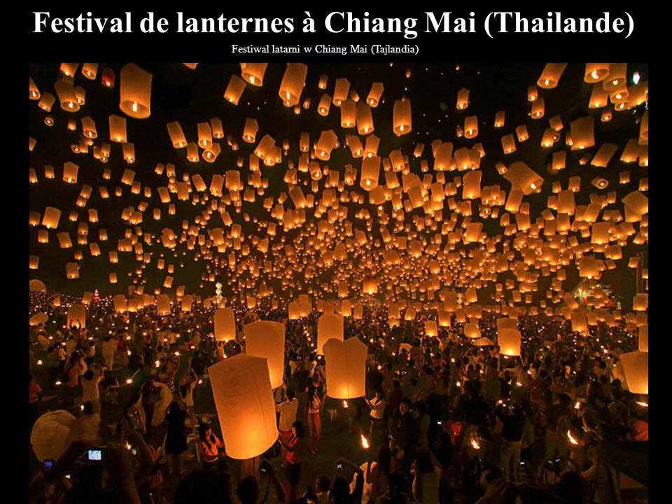 Festival de lanternes à Chiang Mai (Thailande)
