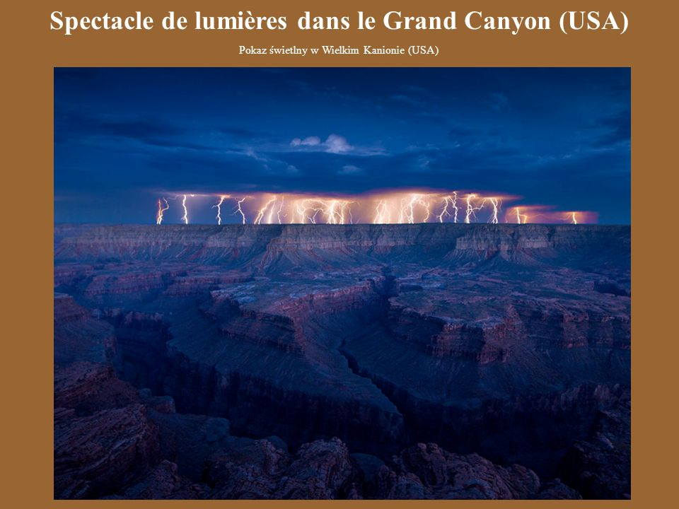 Spectacle de lumières dans le Grand Canyon (USA)