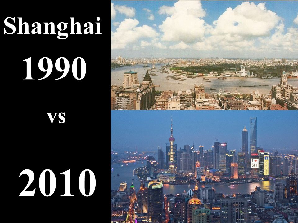 Shanghai 1990 vs 2010 5