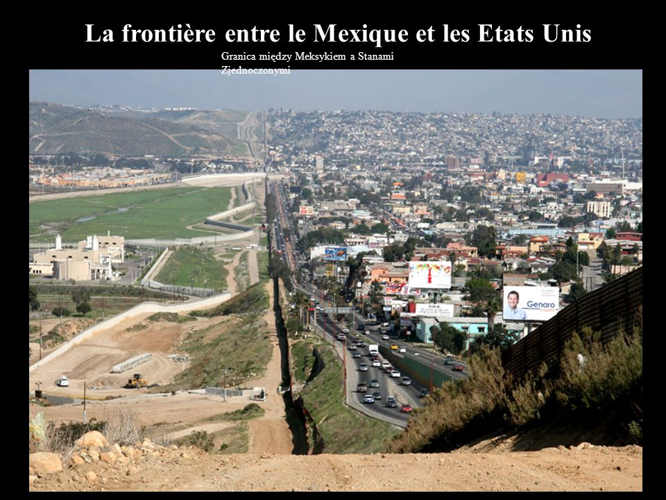 La frontière entre le Mexique et les Etats Unis