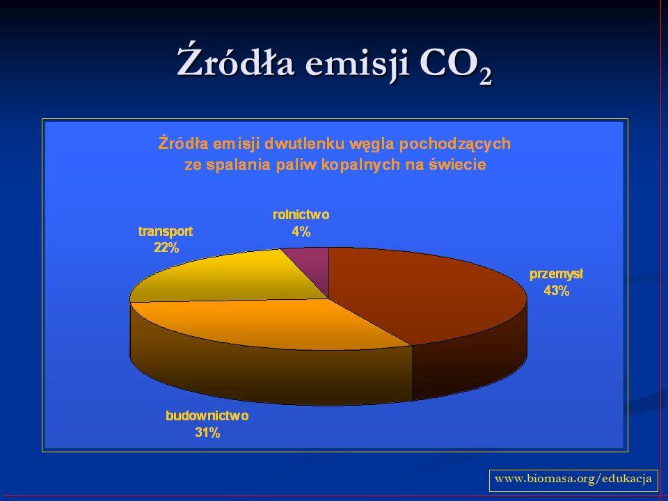 Źródła emisji CO2 www.biomasa.org/edukacja