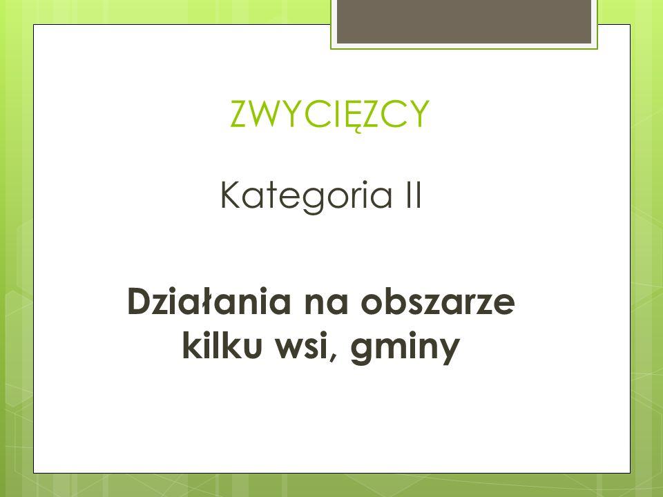 Kategoria II Działania na obszarze kilku wsi, gminy
