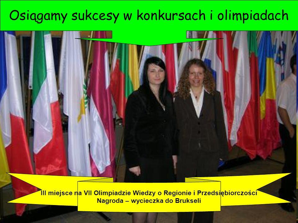 Osiągamy sukcesy w konkursach i olimpiadach