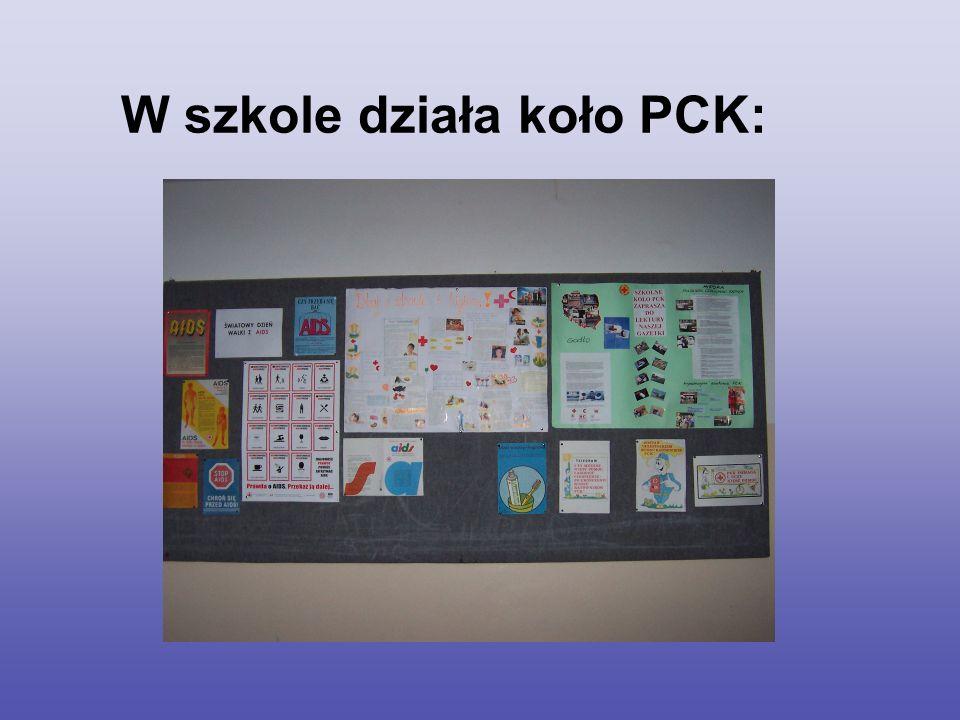 W szkole działa koło PCK: