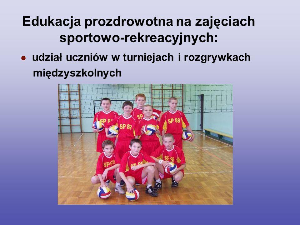 Edukacja prozdrowotna na zajęciach sportowo-rekreacyjnych: