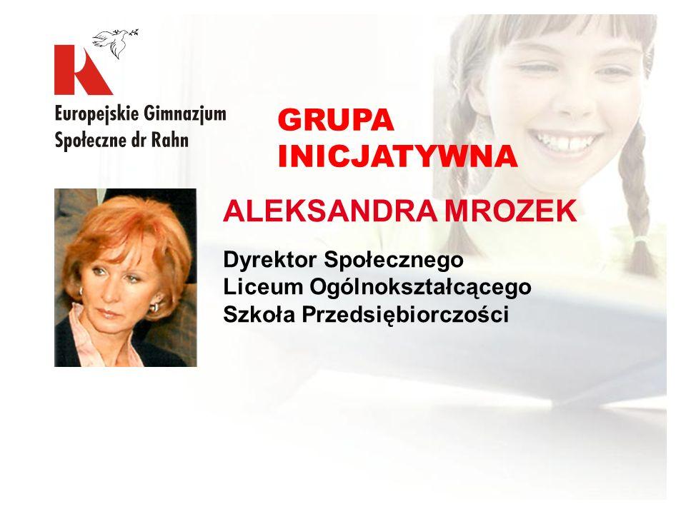 GRUPA INICJATYWNA ALEKSANDRA MROZEK