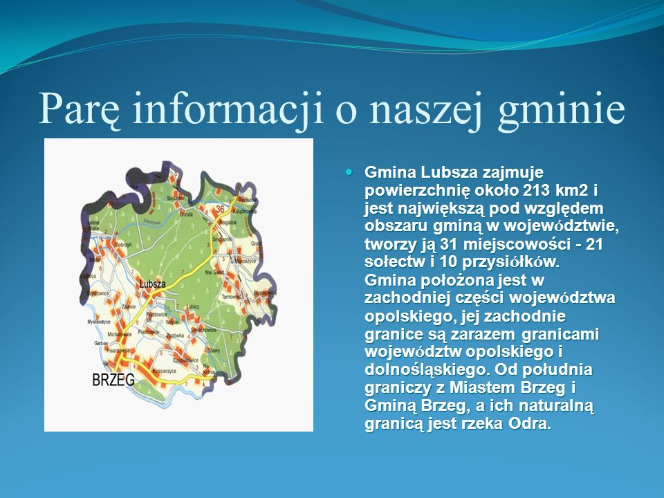 Parę informacji o naszej gminie