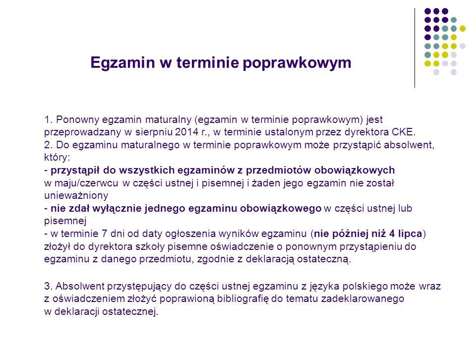 Egzamin w terminie poprawkowym