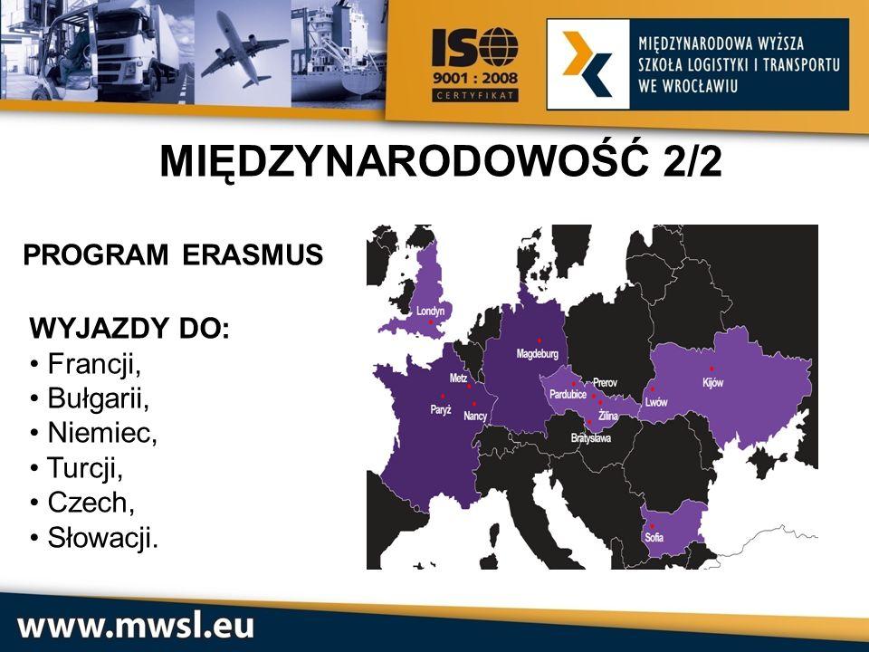 MIĘDZYNARODOWOŚĆ 2/2 PROGRAM ERASMUS WYJAZDY DO: Francji, Bułgarii,