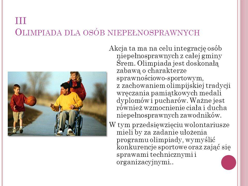 III Olimpiada dla osób niepełnosprawnych
