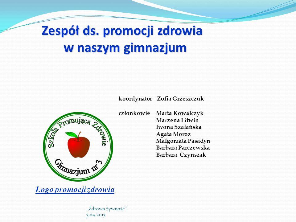 Zespół ds. promocji zdrowia w naszym gimnazjum