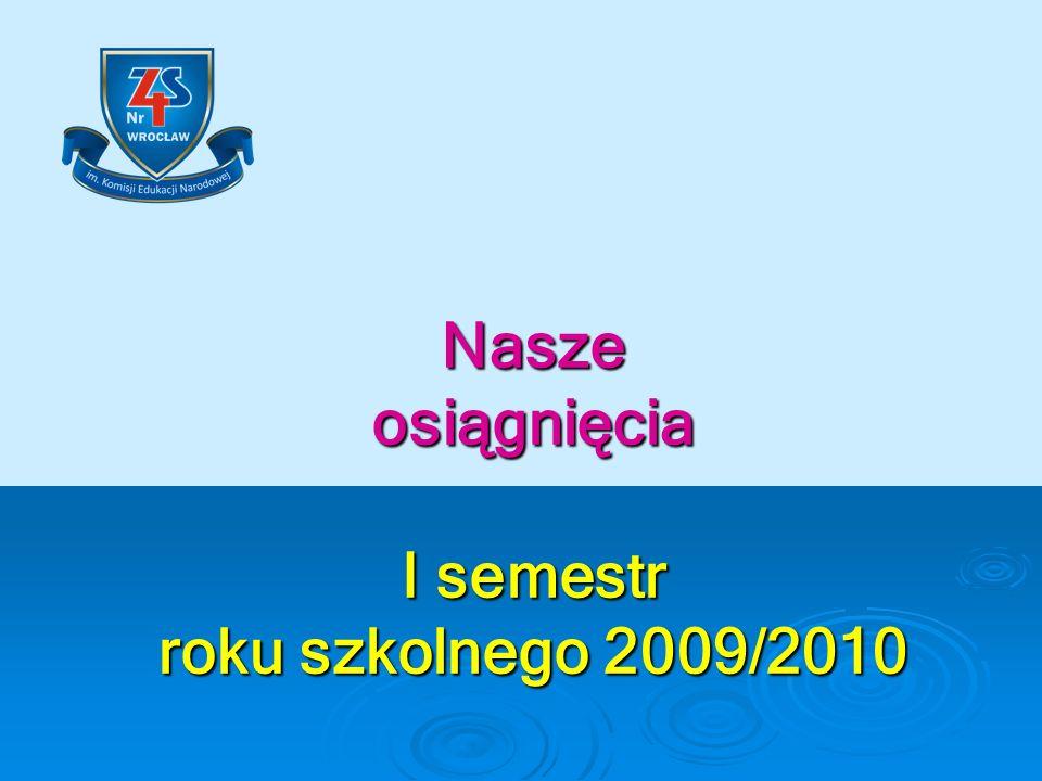 I semestr roku szkolnego 2009/2010