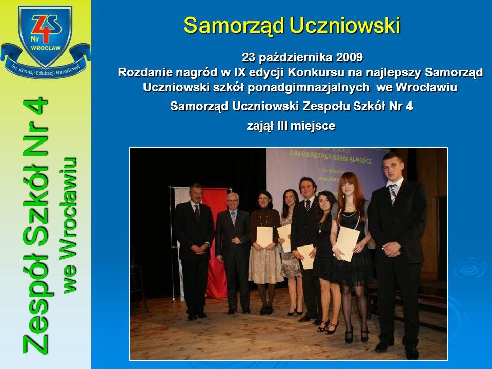 Samorząd Uczniowski Zespołu Szkół Nr 4 Zespół Szkół Nr 4 we Wrocławiu