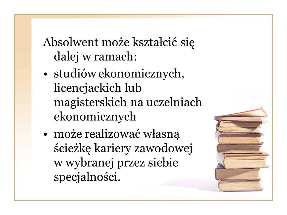 Absolwent może kształcić się dalej w ramach: