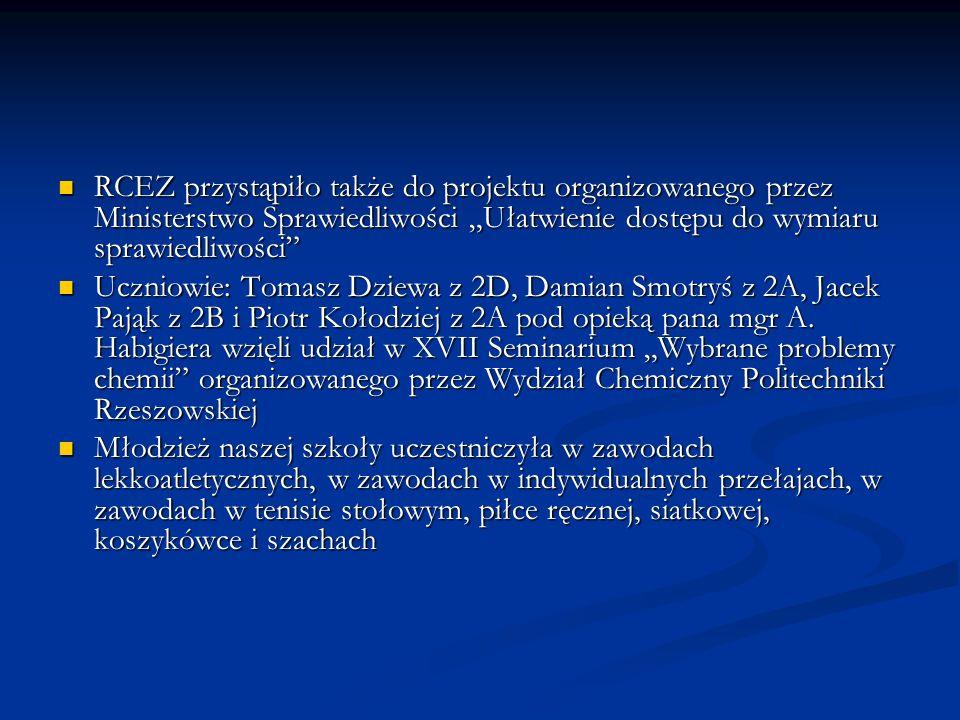 """RCEZ przystąpiło także do projektu organizowanego przez Ministerstwo Sprawiedliwości """"Ułatwienie dostępu do wymiaru sprawiedliwości"""