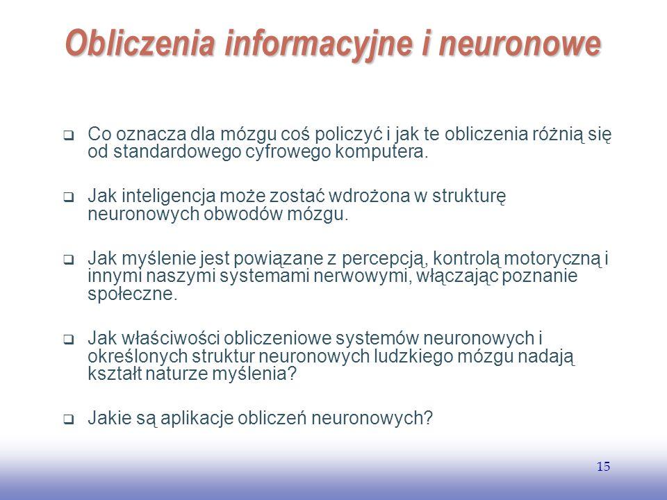 Obliczenia informacyjne i neuronowe
