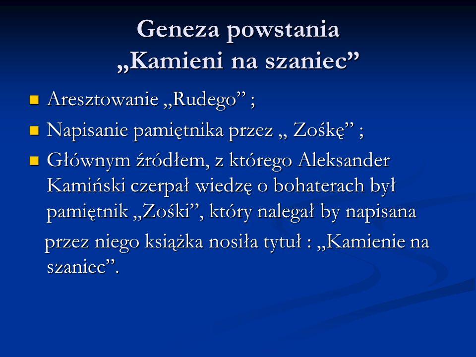 """Geneza powstania """"Kamieni na szaniec"""