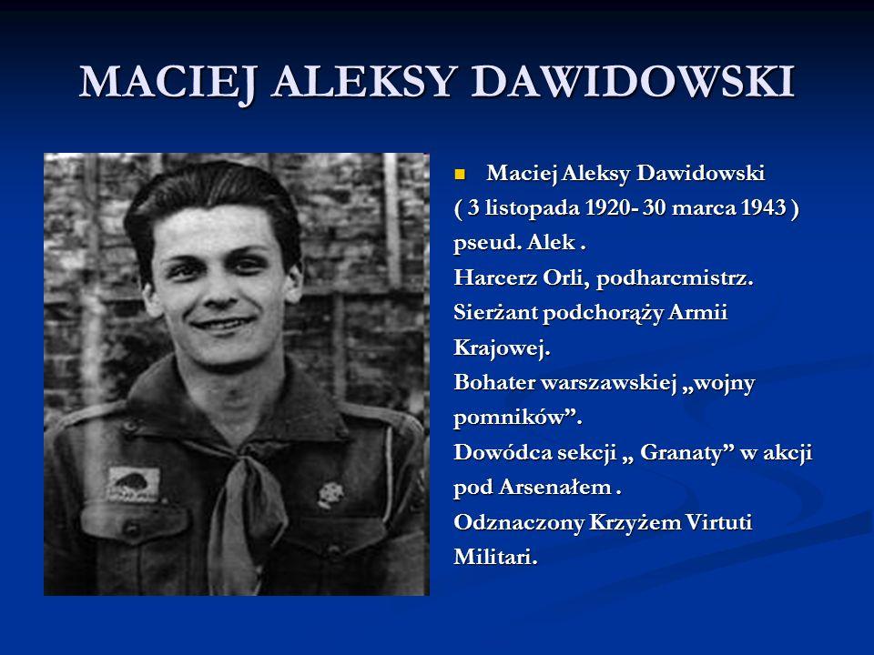 MACIEJ ALEKSY DAWIDOWSKI