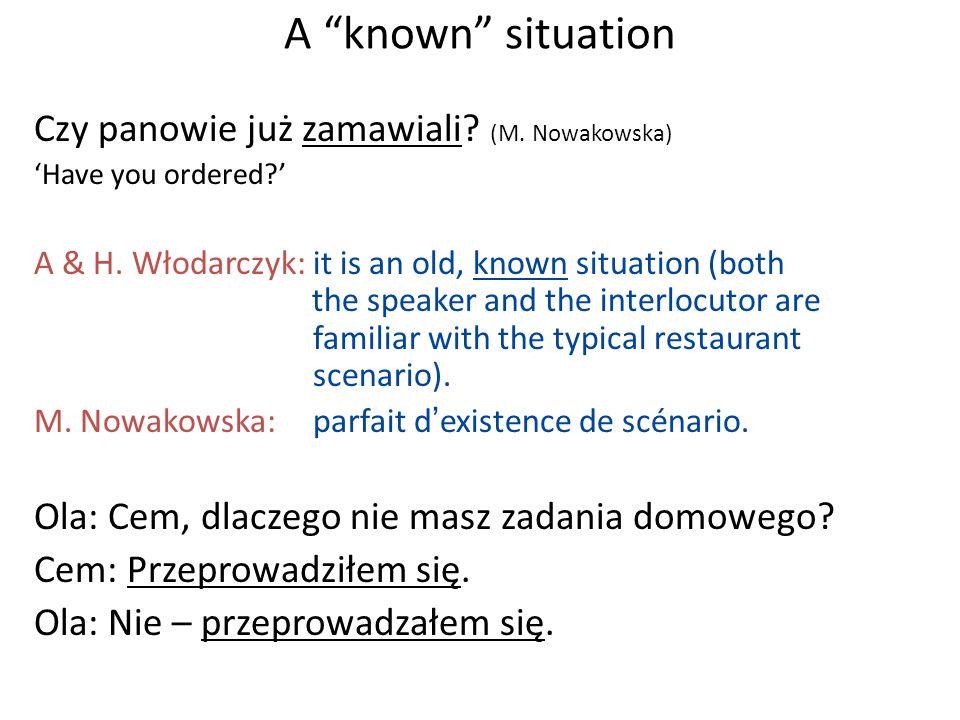 A known situation Czy panowie już zamawiali (M. Nowakowska)