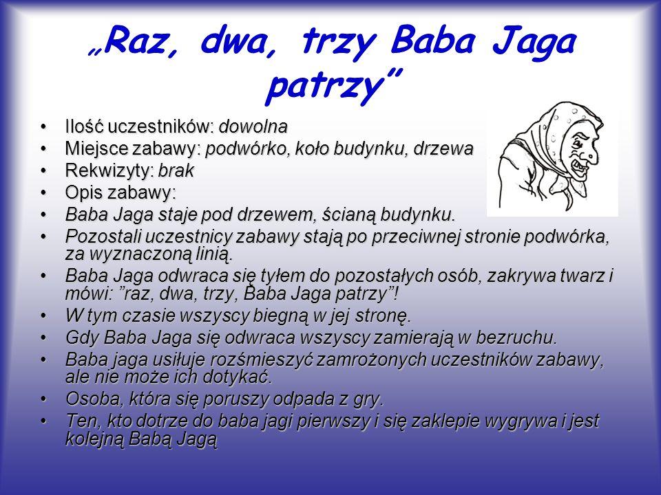 """""""Raz, dwa, trzy Baba Jaga patrzy"""