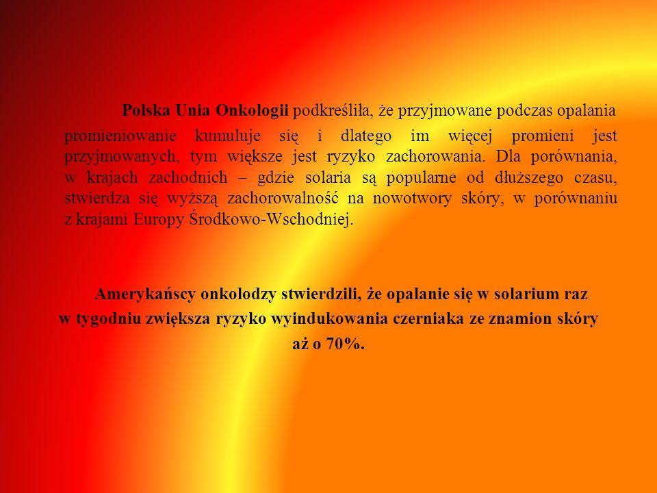 Polska Unia Onkologii podkreśliła, że przyjmowane podczas opalania
