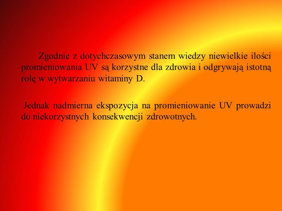 Zgodnie z dotychczasowym stanem wiedzy niewielkie ilości promieniowania UV są korzystne dla zdrowia i odgrywają istotną rolę w wytwarzaniu witaminy D.