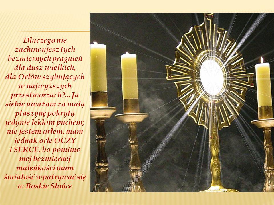Dlaczego nie zachowujesz tych bezmiernych pragnień dla dusz wielkich, dla Orłów szybujących w najwyższych przestworzach ...
