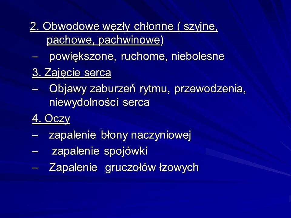 2. Obwodowe węzły chłonne ( szyjne, pachowe, pachwinowe)