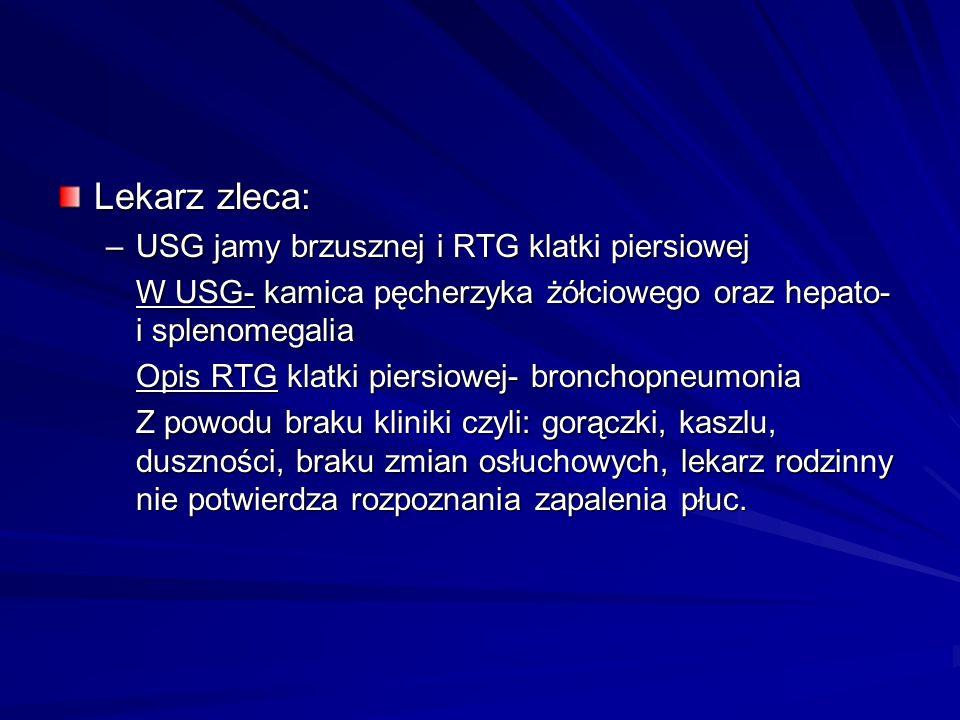 Lekarz zleca: USG jamy brzusznej i RTG klatki piersiowej
