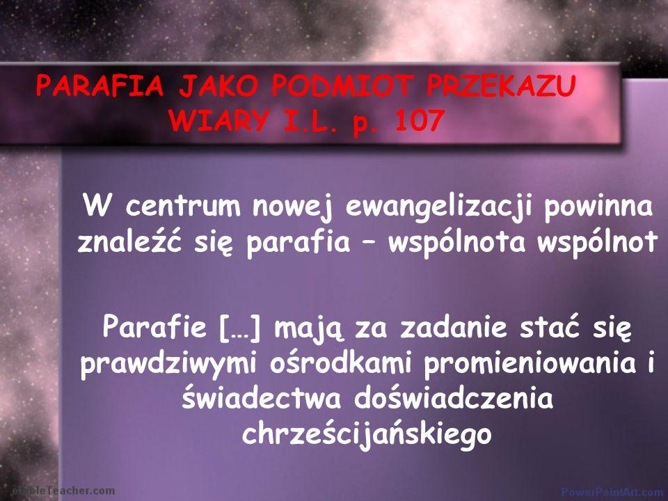 PARAFIA JAKO PODMIOT PRZEKAZU WIARY I.L. p. 107