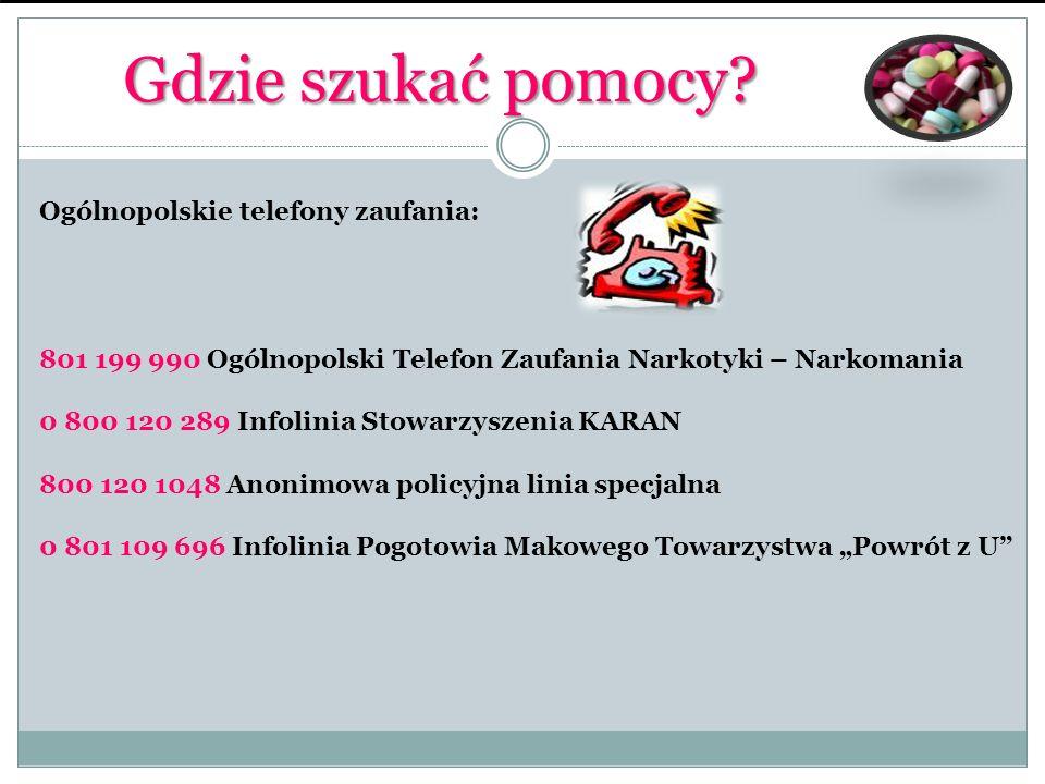 Gdzie szukać pomocy Ogólnopolskie telefony zaufania: