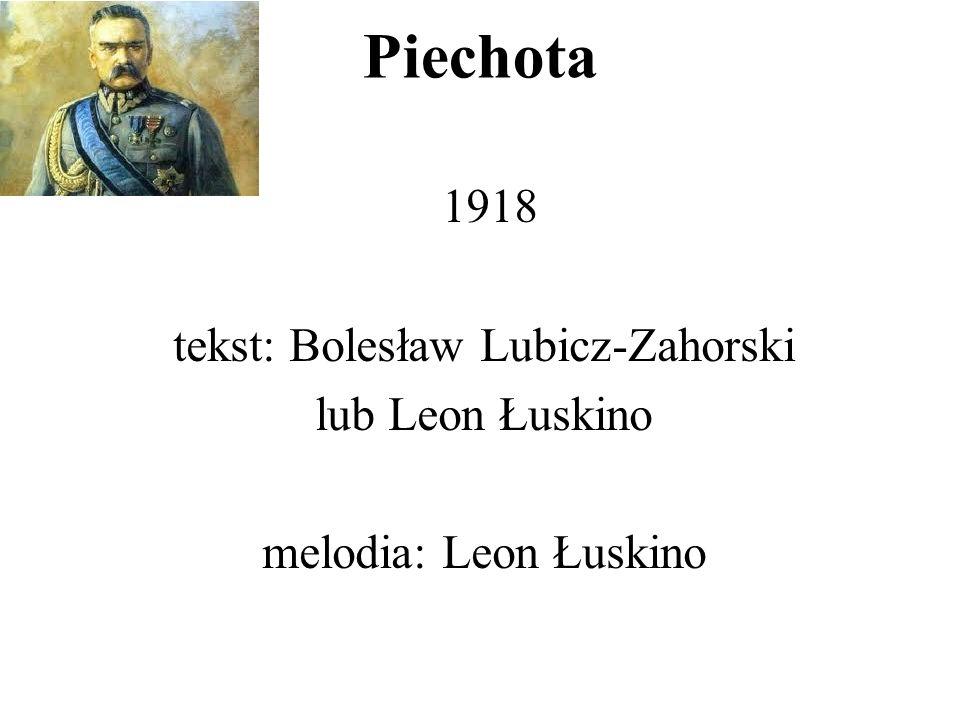 tekst: Bolesław Lubicz-Zahorski