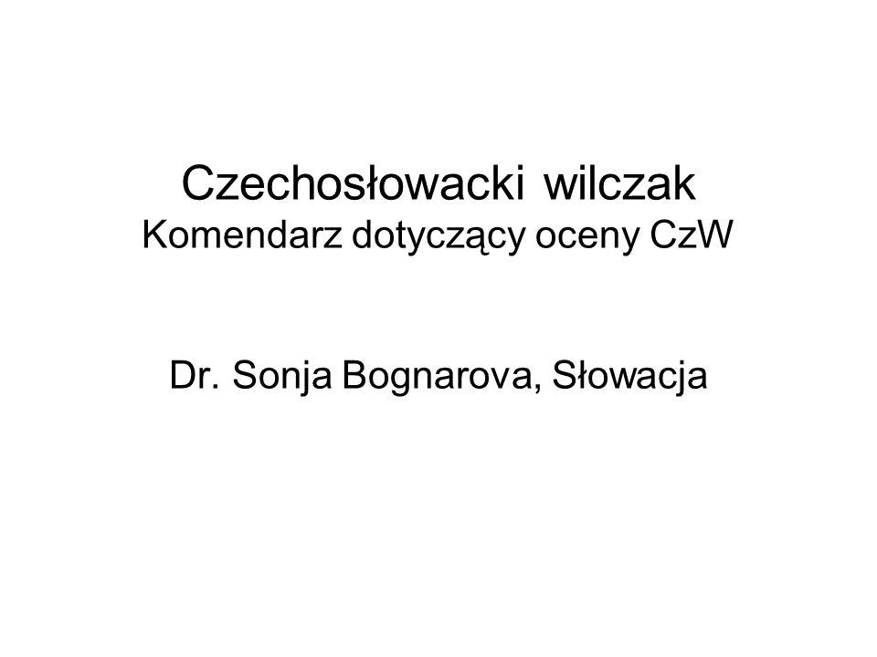 Czechosłowacki wilczak Komendarz dotyczący oceny CzW Dr