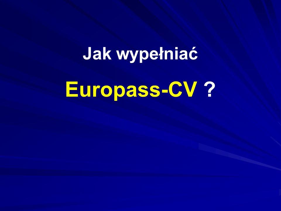 Jak wypełniać Europass-CV