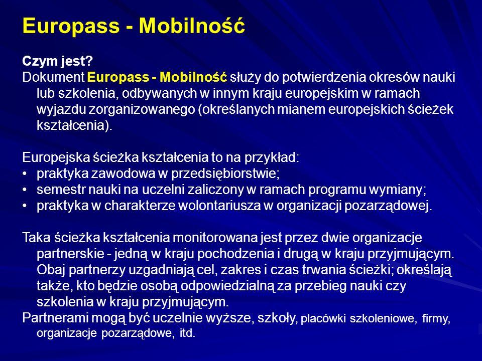 Europass - Mobilność Czym jest