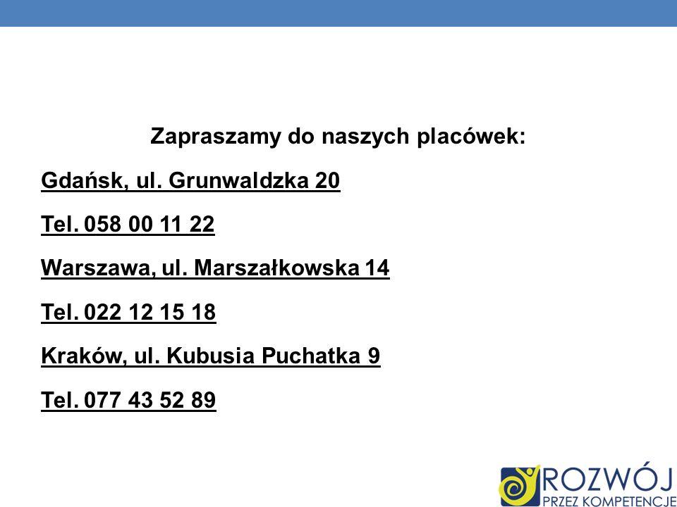 Zapraszamy do naszych placówek: Gdańsk, ul. Grunwaldzka 20 Tel