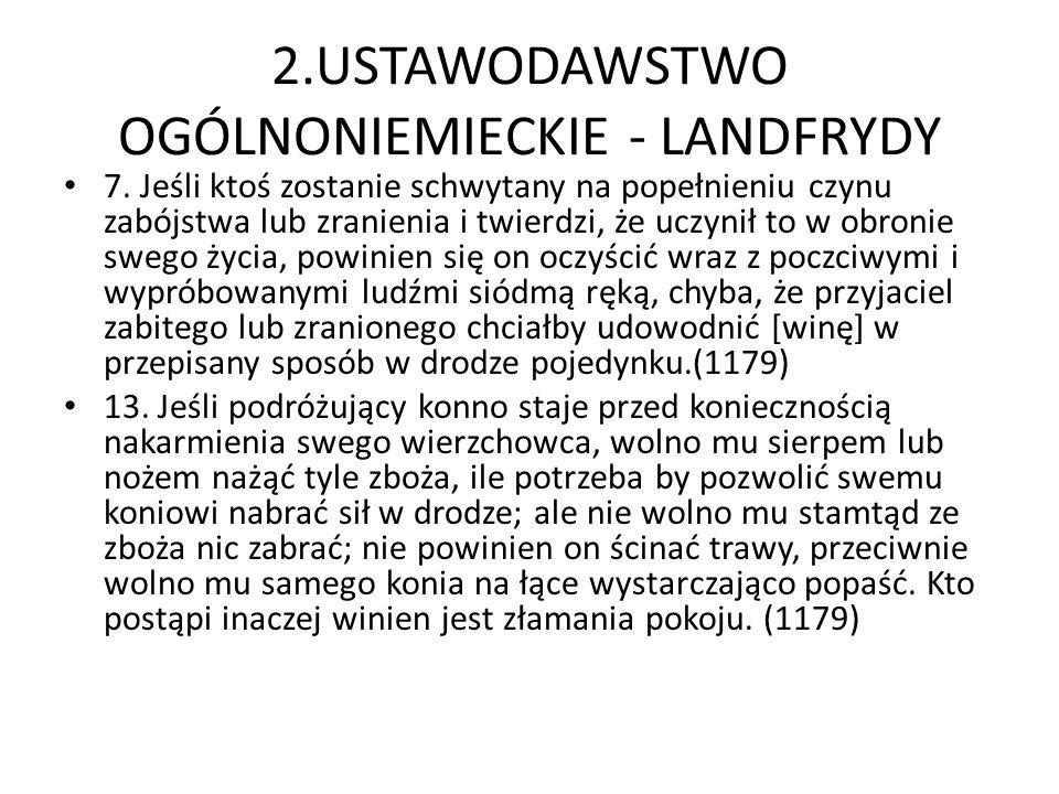 2.USTAWODAWSTWO OGÓLNONIEMIECKIE - LANDFRYDY