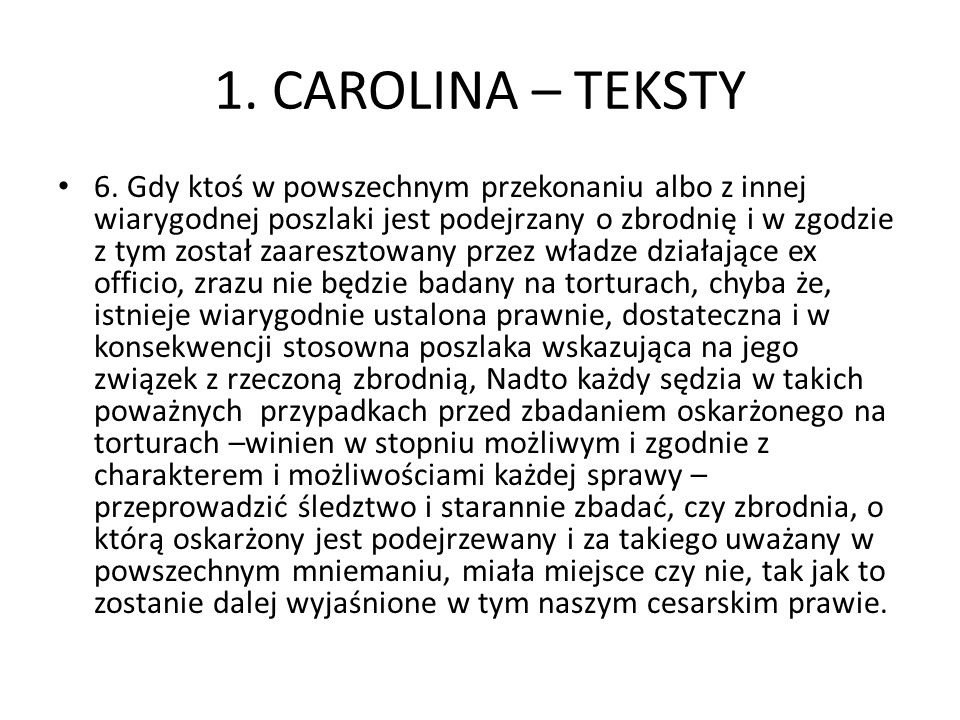 1. CAROLINA – TEKSTY