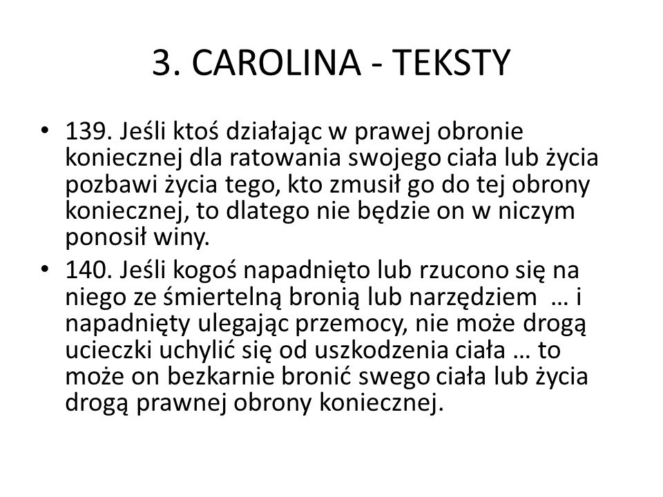 3. CAROLINA - TEKSTY