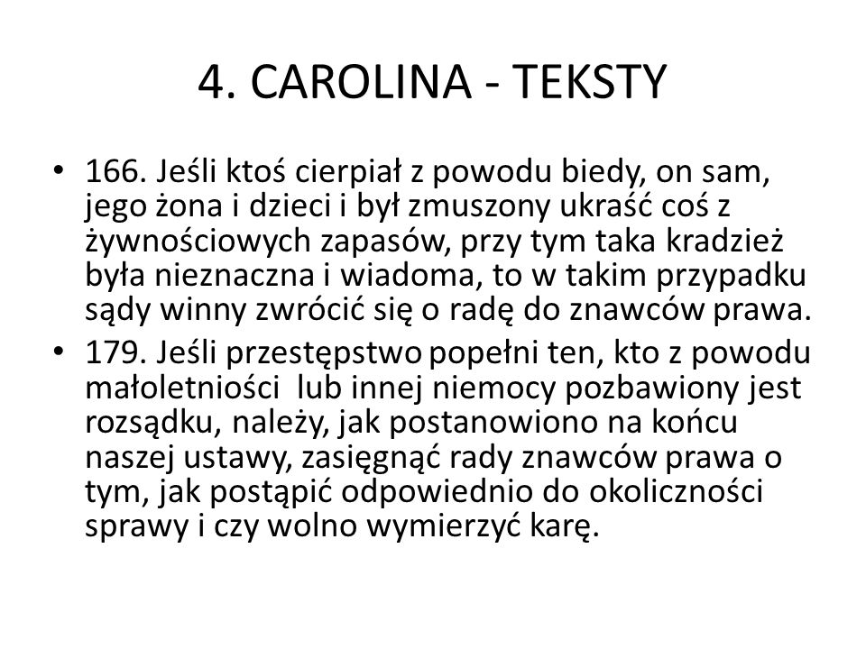 4. CAROLINA - TEKSTY