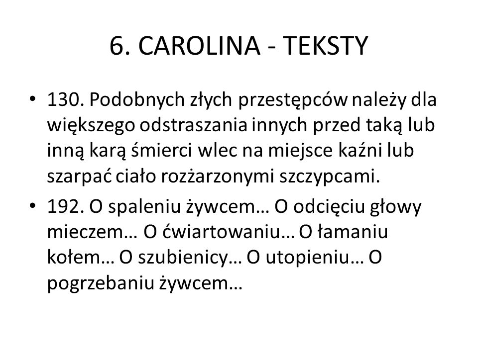 6. CAROLINA - TEKSTY