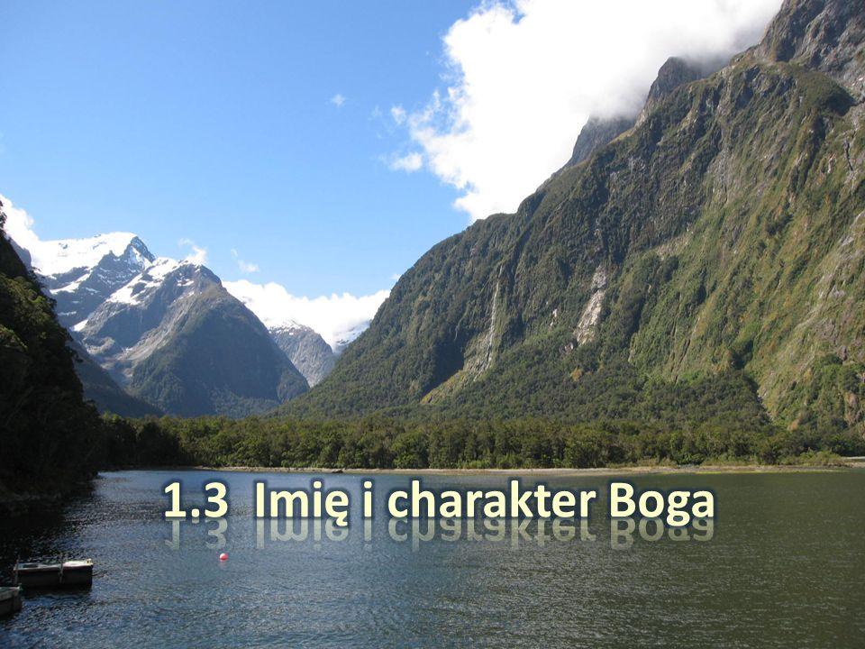 1.3 Imię i charakter Boga