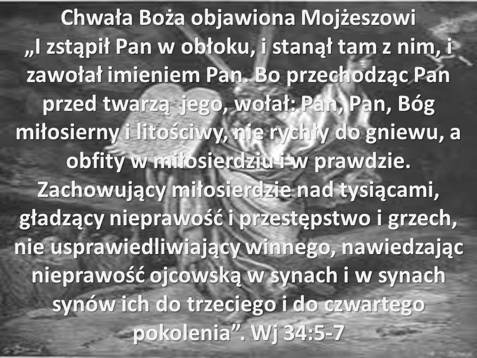 Chwała Boża objawiona Mojżeszowi