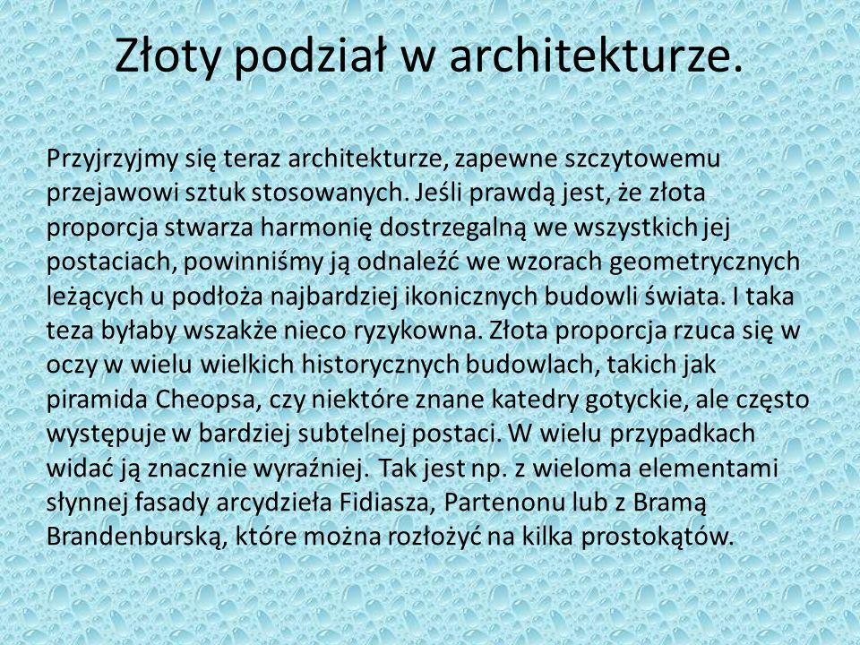 Złoty podział w architekturze.