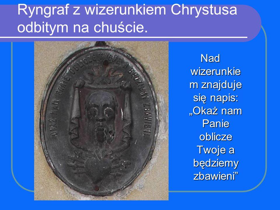 Ryngraf z wizerunkiem Chrystusa odbitym na chuście.